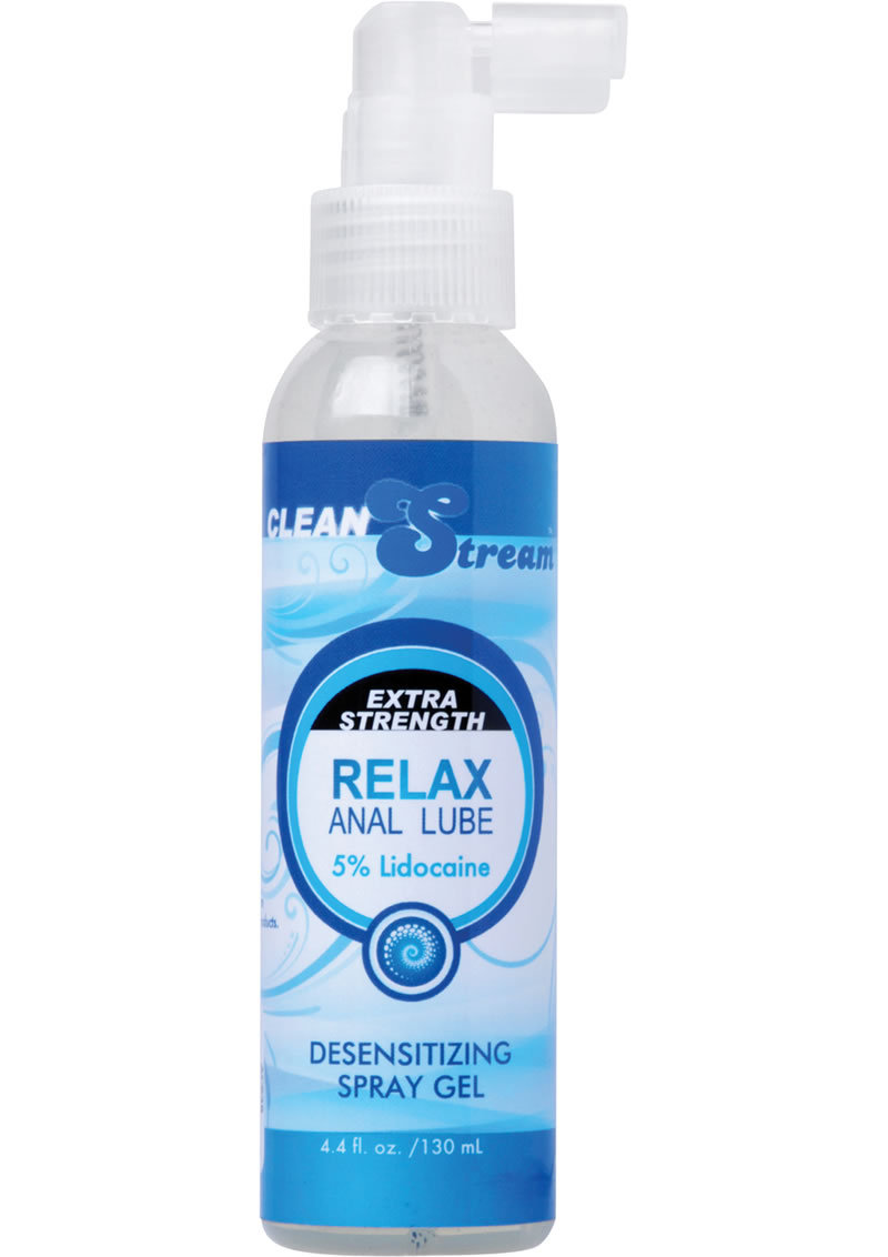 Cleanstream Extra Strength Relax Anal Lube Desensitizing Spray Gel 4.4 Ounce